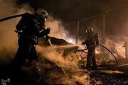 تصاویر | آتشسوزی گسترده روز گذشته در خیابان شوش