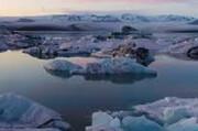 ببینید | تصویری ترسناک از فرو ریختن کوه یخی