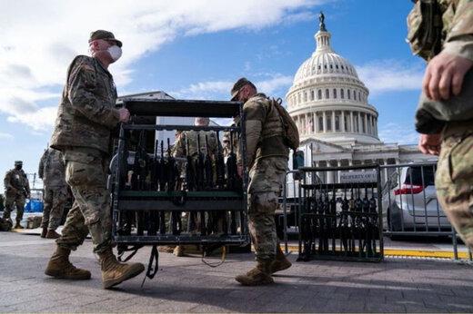 ببینید | شرایط ویژه امنیتی در واشنگتن در آستانه تحلیف بایدن