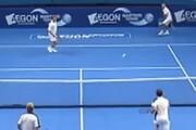 ببینید | حرکت فوق حرفه ای تنیس باز ایرانی همه را شوکه کرد