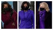 ماجرای لباس بنفش خانمها در تحلیف بایدن چه بود؟/عکس