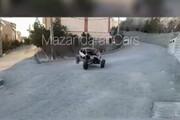 ببینید | اقدام عجیب راننده هنگام چپ کردن با خودروی آفرود در تهران