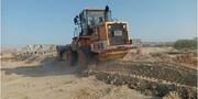 رفع تصرف ۳۷.۳ هزار مترمربع به ارزش ۲۲.۳میلیارد ریال از اراضی ملی در روستای دفاری قشم