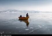 ببینید   طبیعت زمستانی دریاچه ارومیه