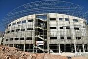 پیشرفت۴۰درصدی سالن ورزشی 6هزارنفری قزوین