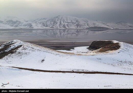 کاهش بیش از ۵۵ سانتیمتری تراز آب دریاچه ارومیه