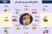 اینفوگرافیک | ویتامینهای ضروری برای زنان