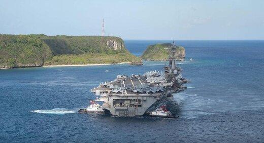 ناو هواپیمابر آمریکایی وارد دریای چین شد