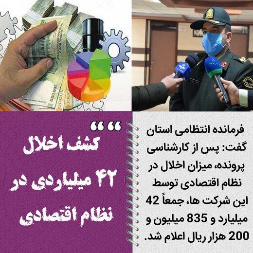 کشف اخلال ۴۲ میلیاردی در نظام اقتصادی