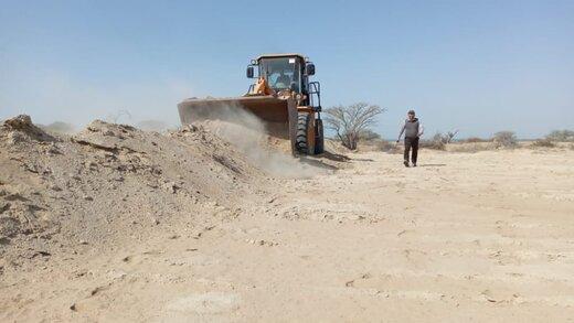 ۹قطعه از اراضی ملی و دولتی به مساحت ۴۶.۵هزارمترمربع در ۳روستای قشم رفع تصرف شد