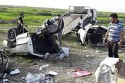 عکس | تصادف مرگبار و نصف شدن دو پراید در جاده ساحلی بوشهر