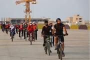 همایش دوچرخه سواری همگانی در قشم برگزار شد