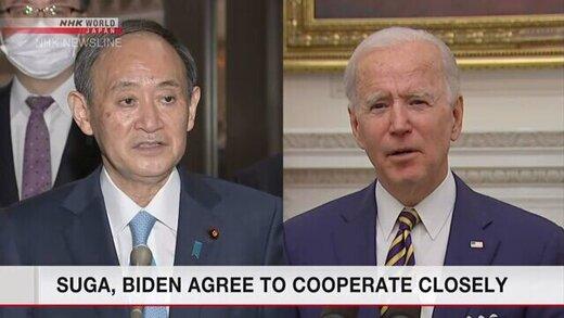 اولین تماس تلفنی بایدن و نخست وزیر ژاپن