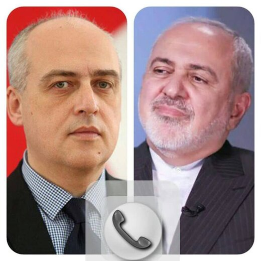 رایزنی تلفنی وزرای خارجه ایران و گرجستان