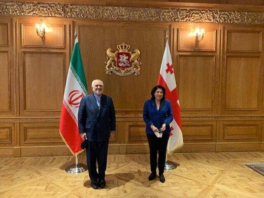 در دیدار ظریف و رئیس جمهور گرجستان چه گذشت؟