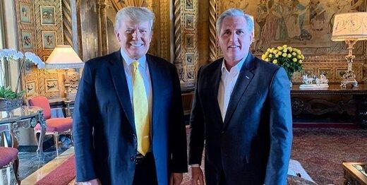 رهبر جمهوریخواهان به دستبوسی ترامپ رفت