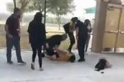 ببینید | رفتار خشن و وحشیانه پلیس آمریکا در دستگیری یک دختر جوان