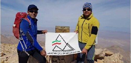 صعود تیم کوهنوردی منطقه آزاد قشم به قله تَشگر
