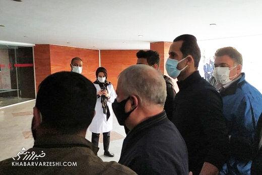 تجمع در بیمارستان فرهیختگان بخاطر علی انصاریان/ مردانی: این موضوع حتما باعث شیوع بیماری میشود