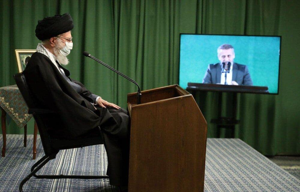 تصویری از دیدار تلویزیونی مداحان با رهبر انقلاب