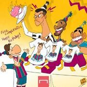 هدیه مسی برای تولد رونالدو را ببینید!