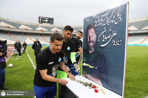 گل استقلال تقدیم به علی انصاریان/عکس