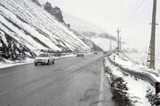 ببینید   بارش شدید برف در جاده چالوس