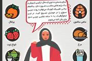 اینفوگرافیک | ۱۰ ماده غذایی که به کاهش وزن خانمها کمک میکند