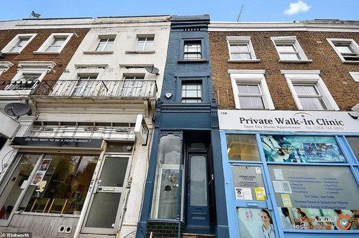 ببینید | فروش باریکترین خانه در لندن به قیمت ۳۳ میلیارد تومان