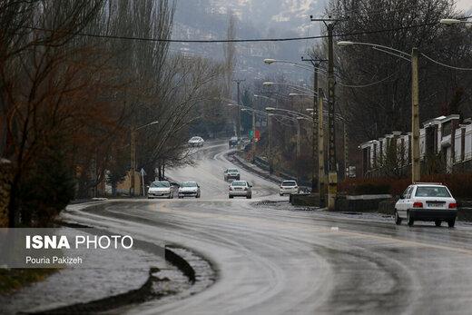 کدام جادهها زیر باران و برف است؟