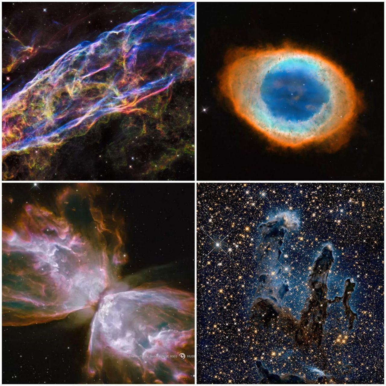 ببینید | بخشی از زیباییهای آسمان شکار شده توسط تلسکوپ هابل