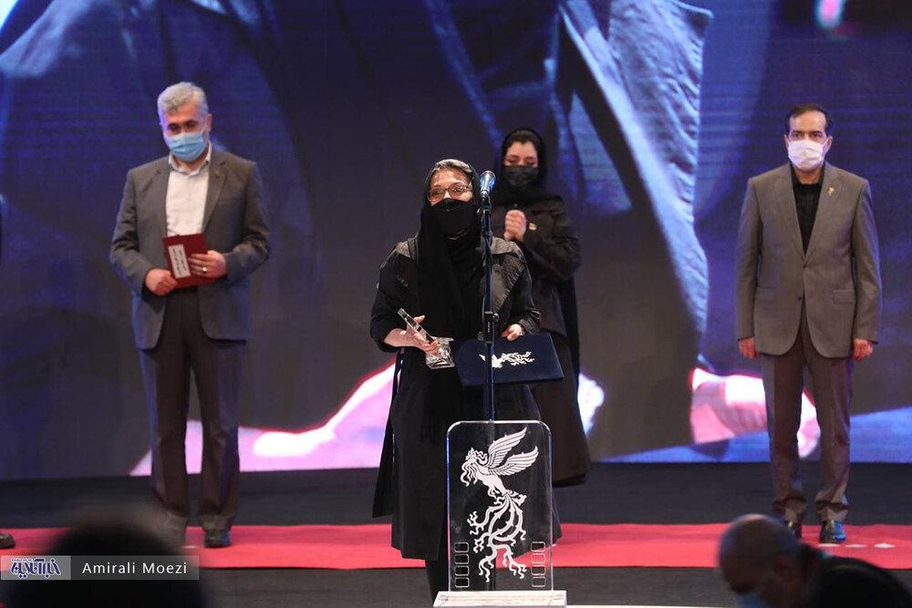 سخنان رویا افشار، پس از دریافت جایزه بازیگری جشنواره فجر/ عکس