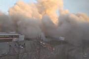 ببینید | نابودی کامل یک هایپر مارکت در انفجار اوستیا