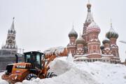 ببینید | بارش بیوقفه برف و یخبندان شدید در مسکو