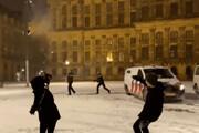 ببینید | درگیری پلیس و شهروندان به سبک هلندی