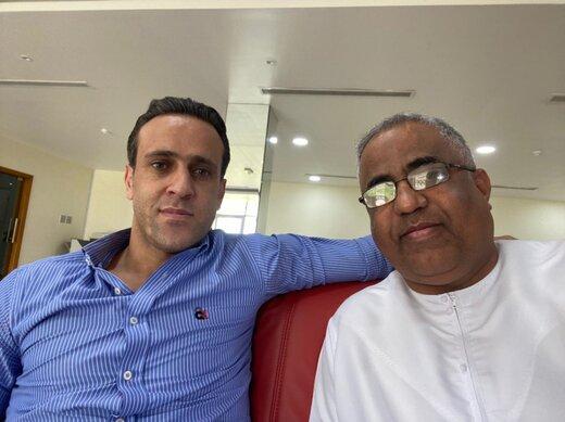 حضور علی کریمی در باشگاه الاهلی امارات/عکس