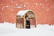 ببینید | تصویری جالب از میزان بارش برف در مسکو