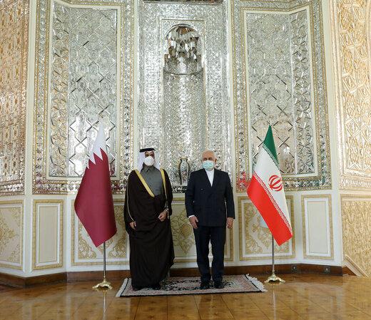 Zarif meets Qatari counterpart in Tehran