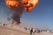 ببینید | لحظه انفجار و شروع آتش سوزی تانکر در گمرک اسلام قلعه افغانستان