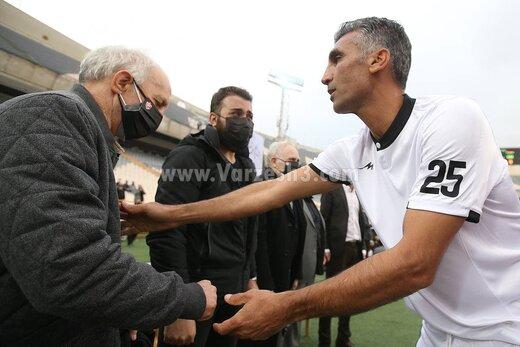 آشتی هاشمی نسب و علی پروین در ورزشگاه آزادی /عکس