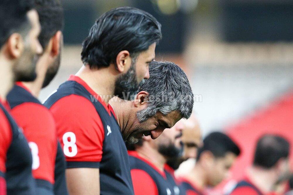 اشک های پژمان و تتوی کاظمیان به یاد میناوند و انصاریان /عکس