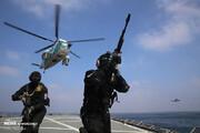 ببینید | اجرای عملیات آزادسازی کشتی ربوده شده در رزمایش دریایی ایران و روسیه