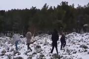 ببینید | بارش برف در لیبی پس از ۱۵ سال