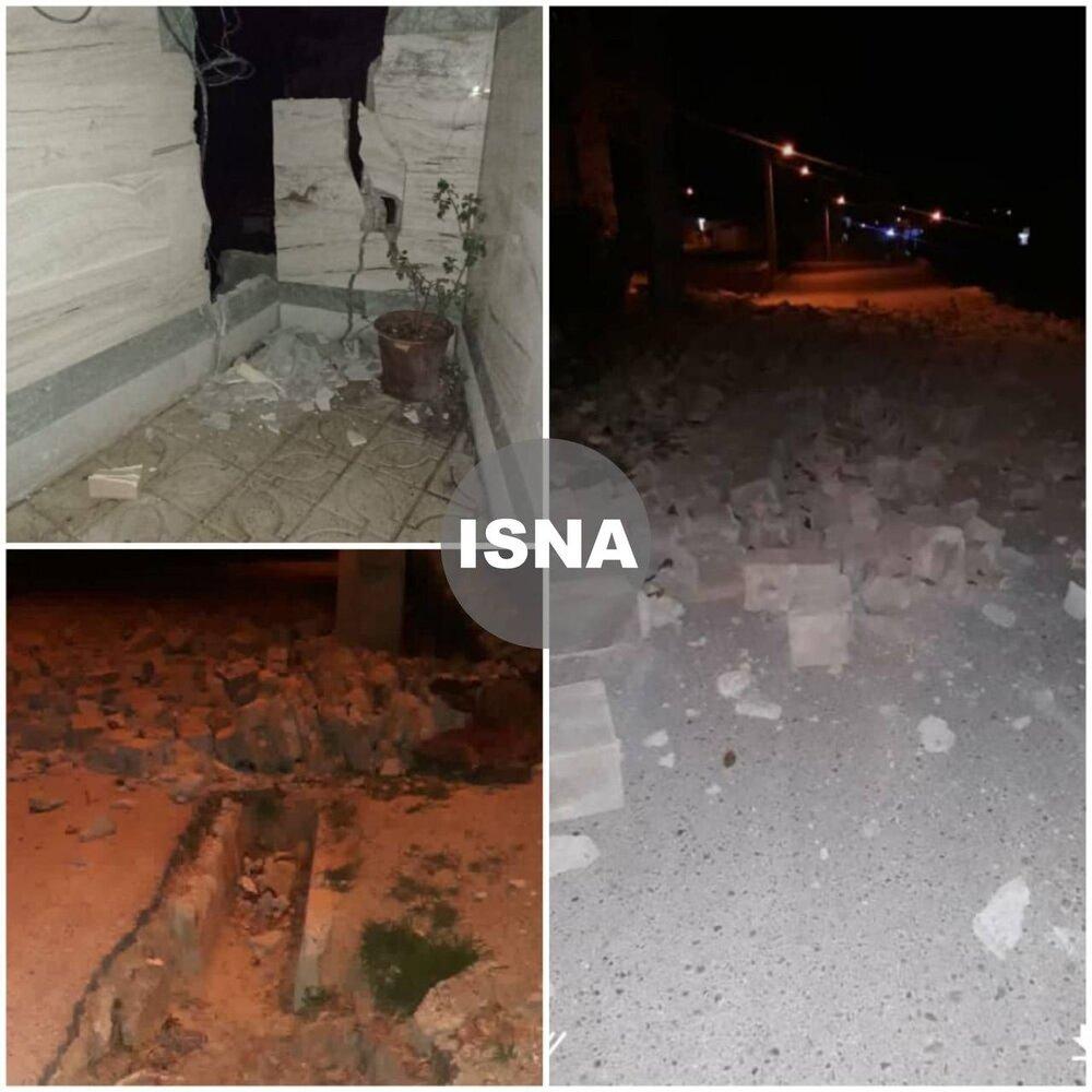 نخستین تصاویر از خسارات زلزله ۵.۶ ریشتری سی سخت