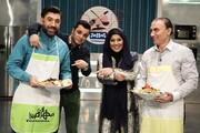 ببینید | آشپزی به سبک علی انصاریان در تلویزیون؛ از تقلب در آشپزی تا شوخی با مجری