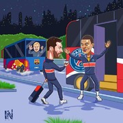 ببینید: مسی سوار اتوبوس پاریسیها شد!
