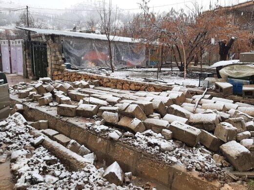 مصایب زلزلهزدگان سیسخت زیر برف و باران شدید