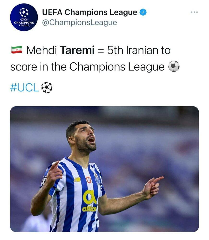 طارمی پنجمین ایرانی گلزن لیگ قهرمانان اروپا