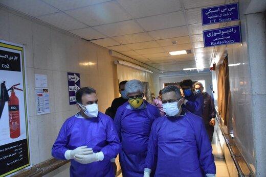 آغاز به کار بیمارستان معین بستری بیماران کرونایی در آبادان