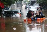 ببینید | تصاویر دهشتناک از سیل و آبگرفتگی شدید در جاکارتا